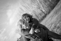 Couple laughing during Griffin Photography engagement session.