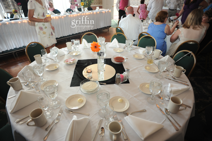 Table set up at the Wintergreen Resort in Wisconsin Dells, Wisconsin.