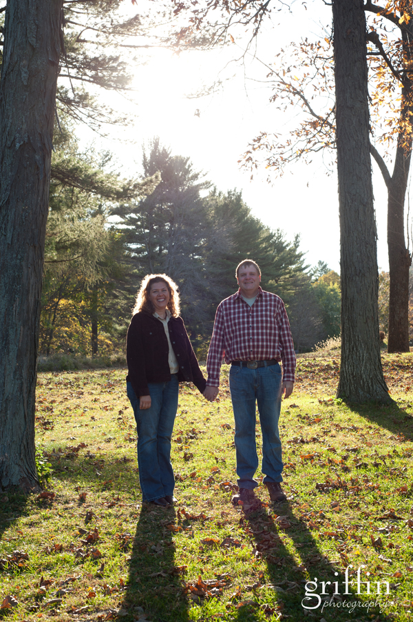 Couple holding hands at Devil's Lake, Baraboo Wisconsin.