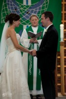 Griffin Photography captures the wonderful moments of the wedding ceremony at St. Luke's in Middleton Wisconsin.