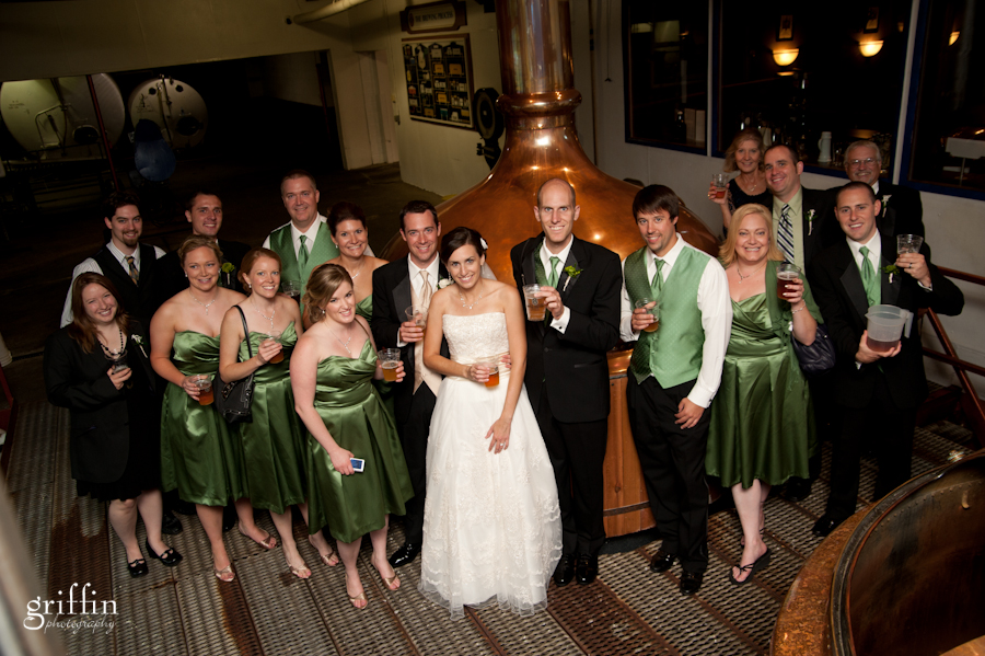 The bridal party at Capital Brewery in Madison Wisconsin.