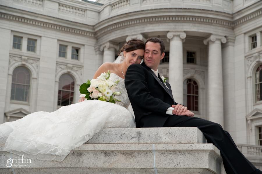 Wisconsin wedding photographers at State capital.