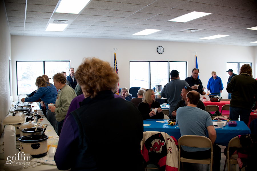 Chili tasters at the 2011 Mayor's Chili Cook Off in New Lisbon.