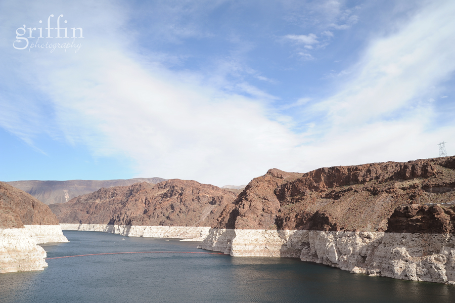 View of the Colorado River from the Hoover Dam.