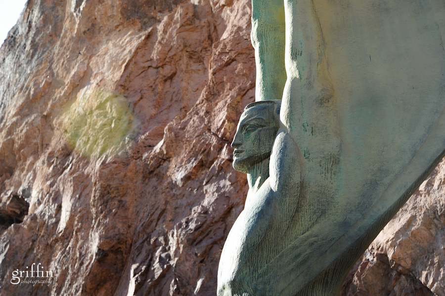 One of the bronze sculptures by the Hoover Dam.