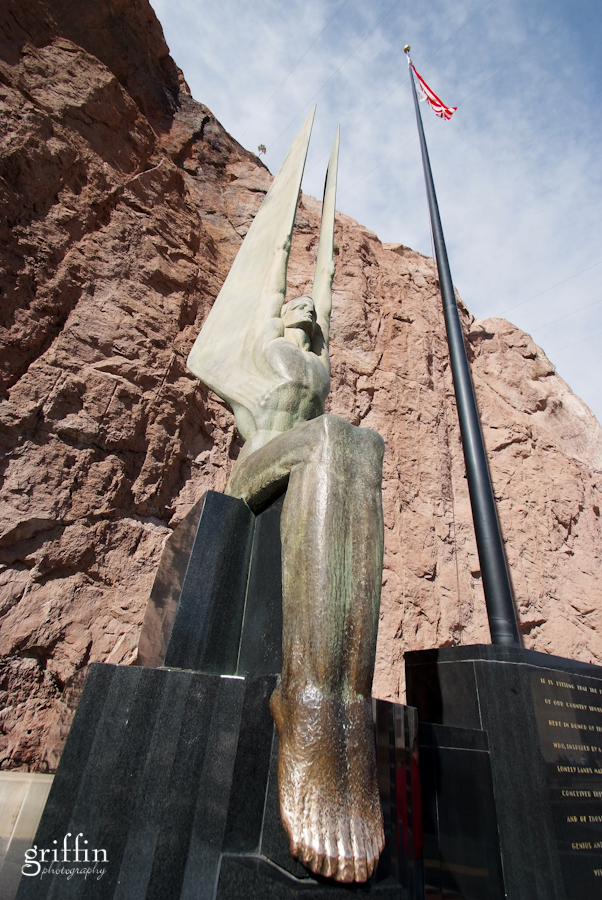 Hoover Dam bronze sculpture.