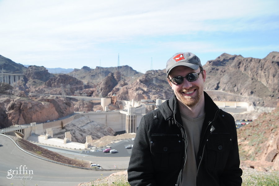 Rob with the Hoover Dam behind him.