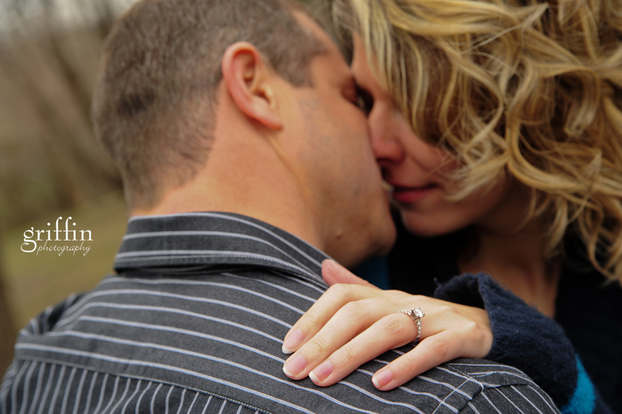 Barely kissing during the engagement session.