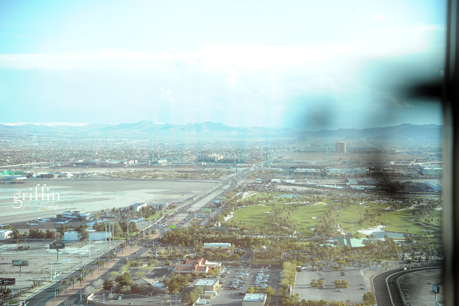 The Vegas airstrip from the penthouse of  the Mandalay Bay.