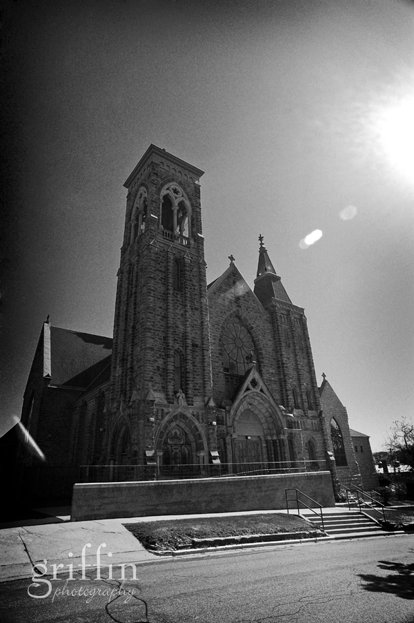 St. Joseph catholic church, Baraboo Wisconsin photogaphed by Griffin Photography.