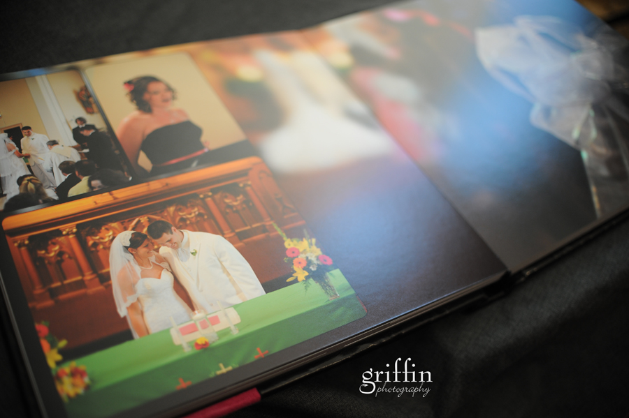 Luxurious matte pages of wedding album.