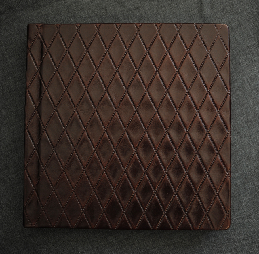10x10 leather Finao wedding album in Datebook.
