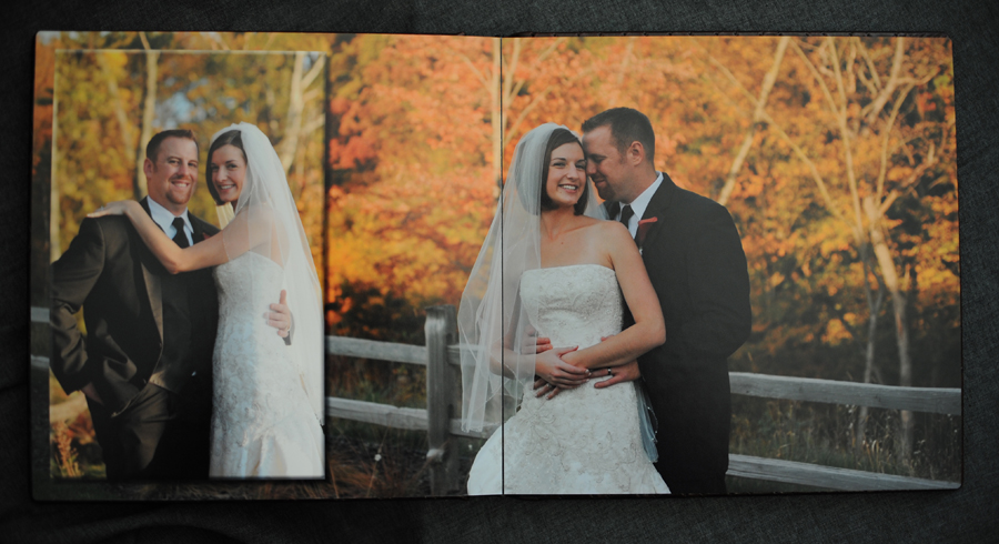 Wedding album autumn spread.