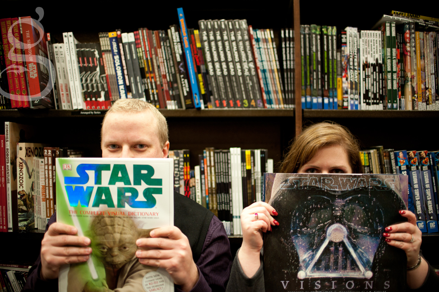 Star Wars fans at the engagement session.