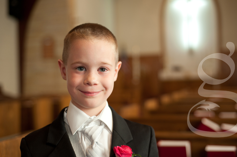 the very handsome little ring bearer.