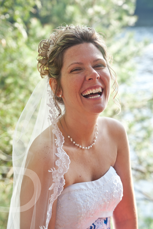 the bride's beautiful smile.