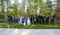 the often requested bridal party jump shot.