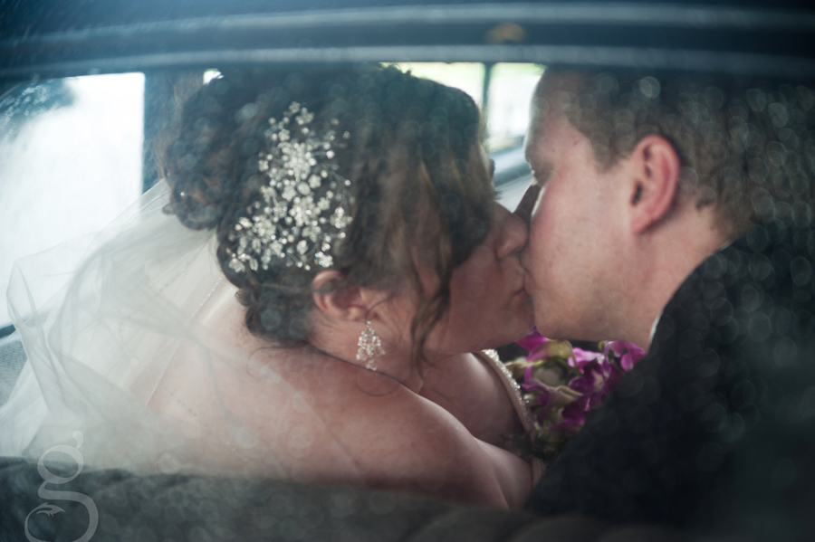 Kissing in the car.