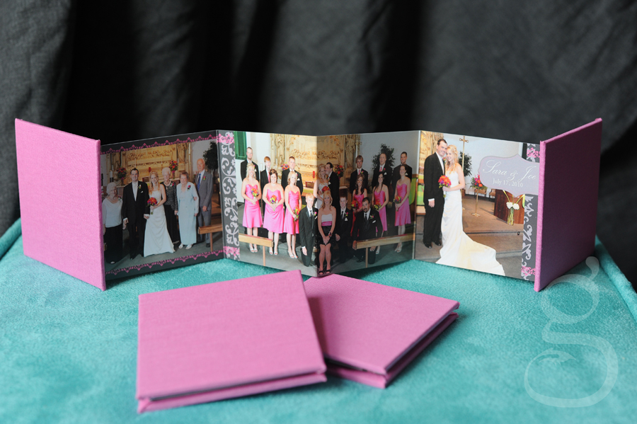 Outside spread 3x3 accordion albums.
