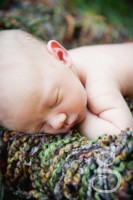 close up of sleeping baby face.