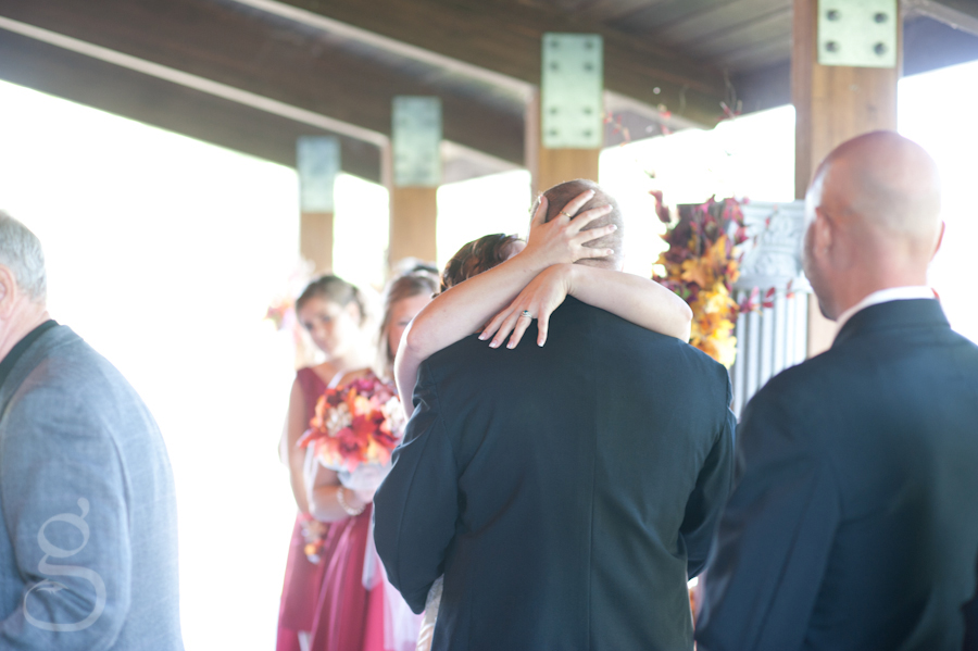 Scott and Harmony's first kiss as husband and wife.