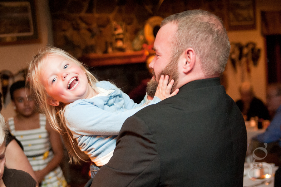 laughter from children at the reception and dance.