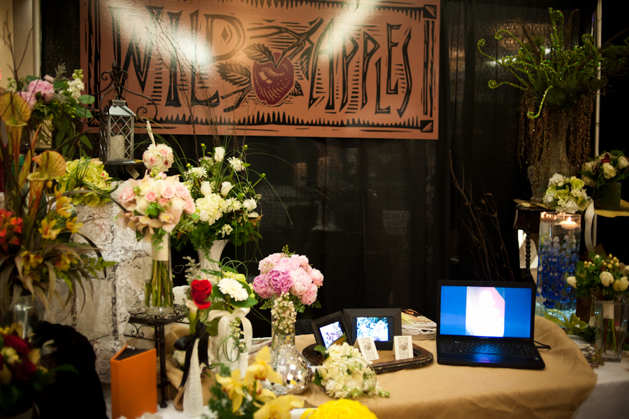 Wild Apples bridal fair booth.