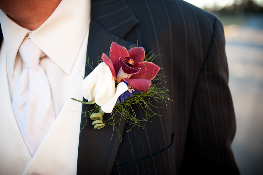 Mark's gorgeous boutonnierre.