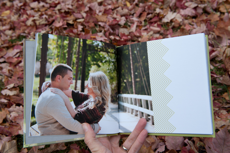 Single image design in the enagement guest book.
