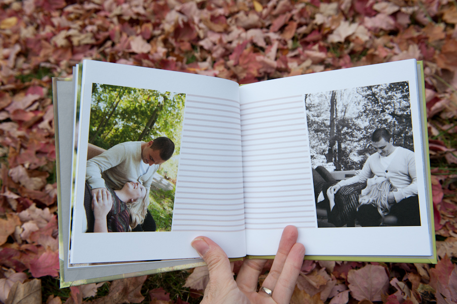 Cute images of the engaged couple in the engagement album.