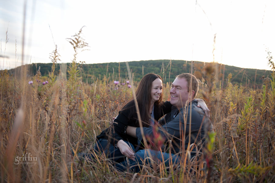 nick and nickie in the fall field