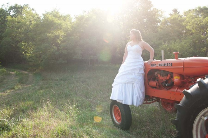 sweet light coming down on Michell's fearless session as she stands on a tractor tire.