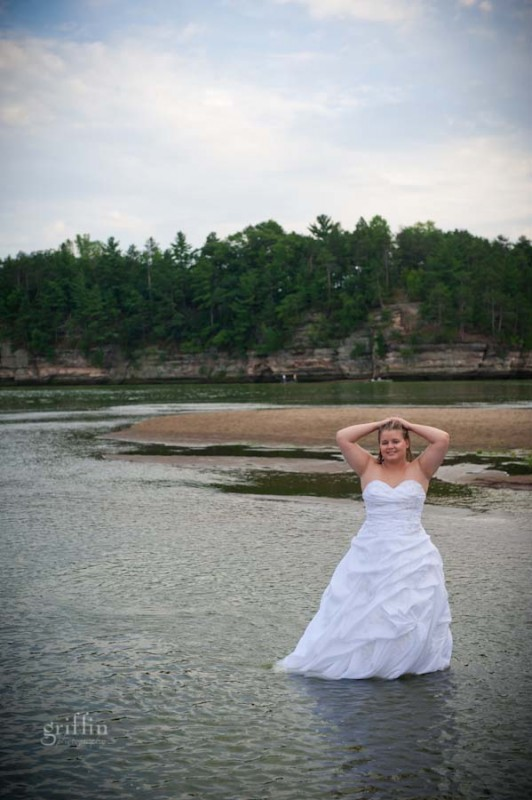 the fearless bride in the river.