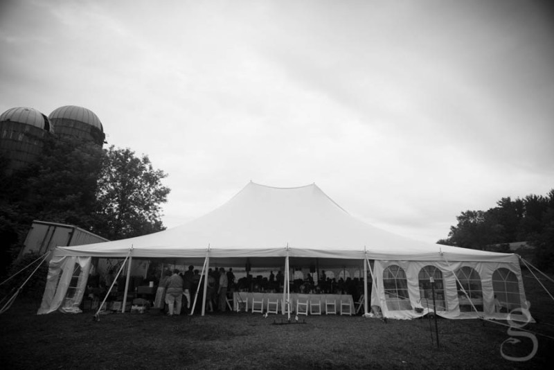reception tent in full blown reception