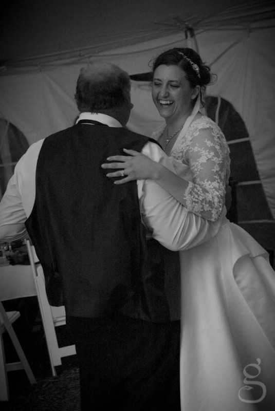 Rachel dancing with her dad.