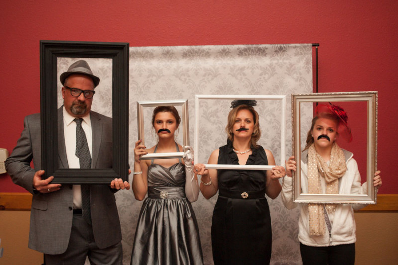 hilariously fun photo booth picture at the reception