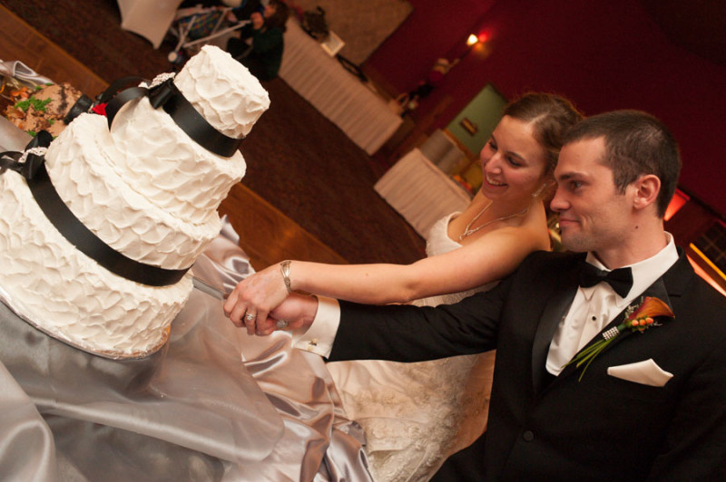the wedding cake attacked by bride and groom