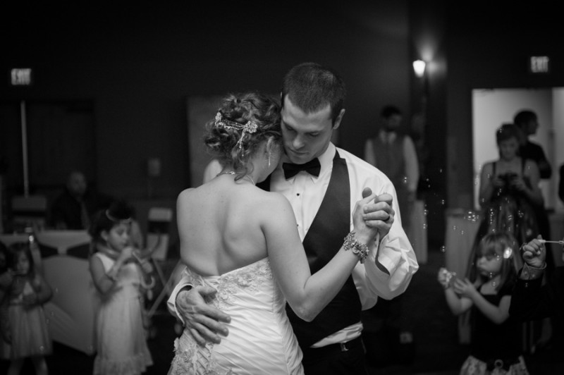emotional wedding dance photo