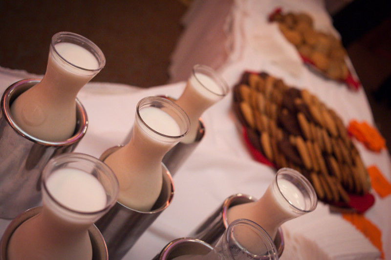milk and cookies to finish off the reception