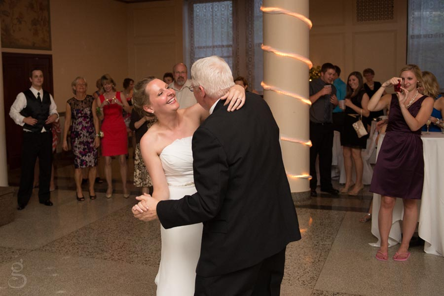 Emily and her dad dancing