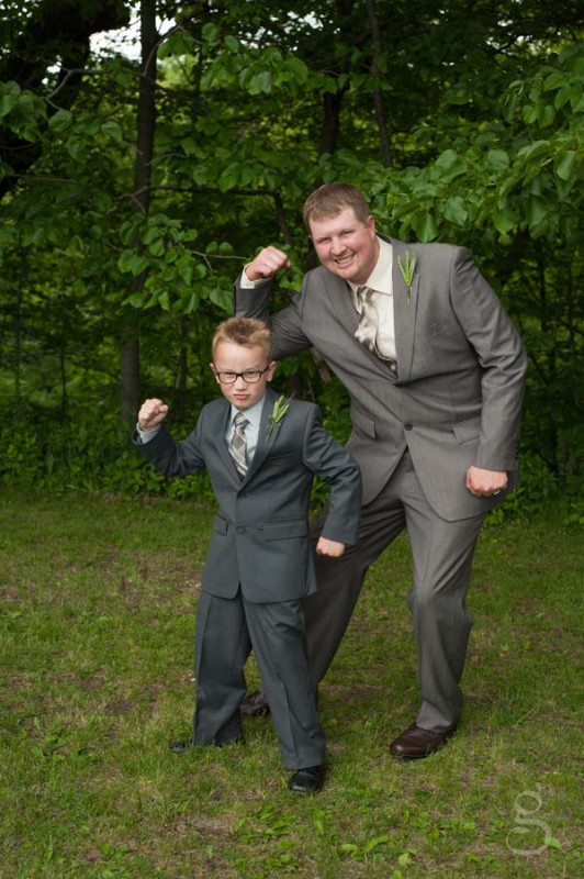 strong groom and strong ringbearer