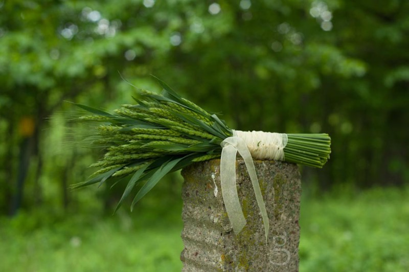 creative diy wheat bouquet for the June wedding.