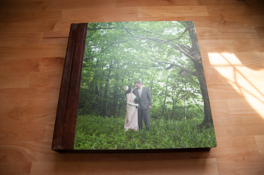 12x12 Finao ONE wedding album with metallic cover and Krumble leather spine, so one of a kind.