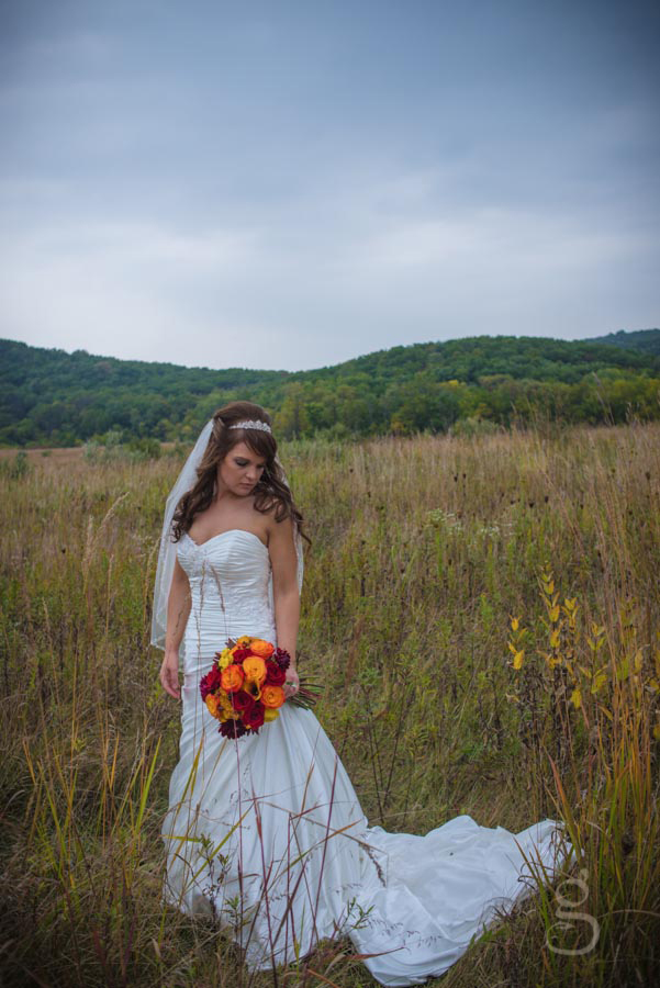 beautiful bride at Devil's Lake South Pass.