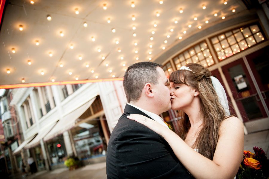 Kissing under the lights at the Al Ringling theatre Baraboo wi.