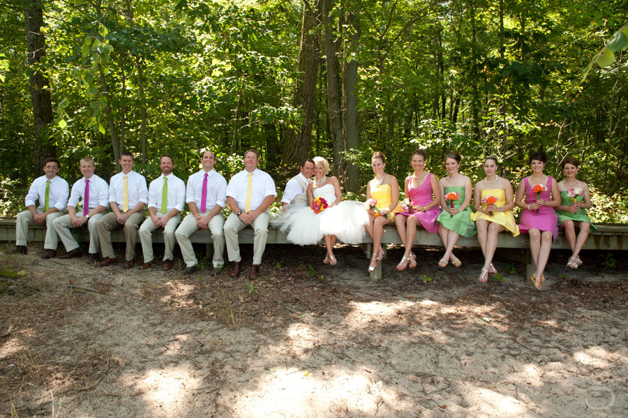 colorful and energetic bridal party.