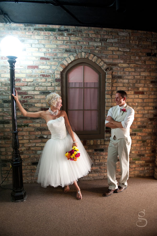 creative bridal formal old time train depot