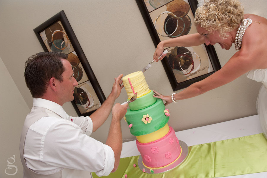 Aggressive cake cutting.