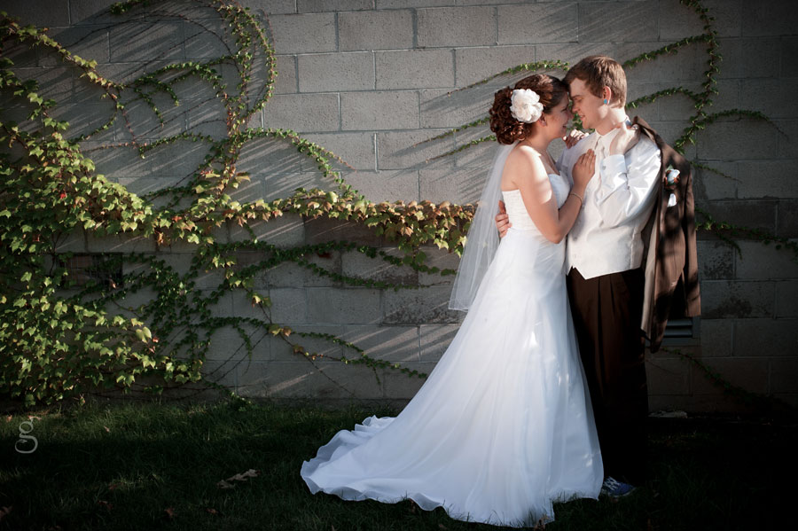 lovely bricke and green vine bridal portrait at the White Rose Inn.