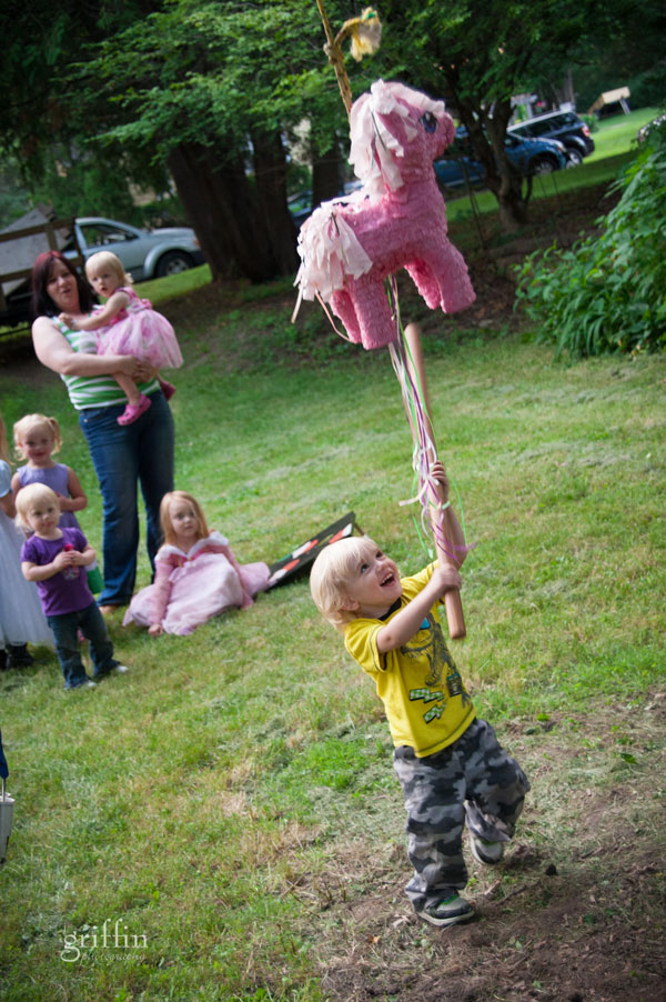 M really excited to hit the pinata.